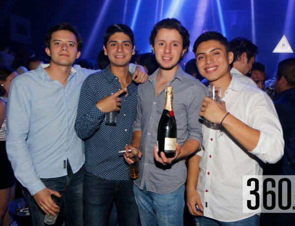 Pablo Agilar, Carlos Romero, Adrián Zamora y Erick Mata.