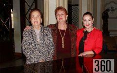"""Beatriz Siller, Irma de Verduzco y Alicia Morales Garza celebraron su cumpleaños en el salón """"Presidentes"""" del Casino de Saltillo."""