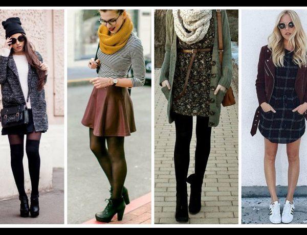 Gabardinas, vestidos, faldas y bufandas en tonos clásicos y atrevidos