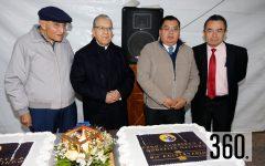 Padre Gilberto Almaraz, Padre Humberto González, Mario Alberto Guardiola y Carlos Calzoncit.