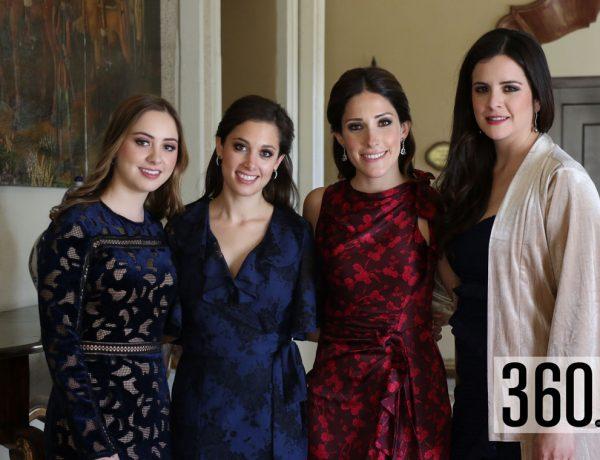 Regina Villarreal, Terecata Villarreal, Marcela Cárdenas y Cristina Amalla.