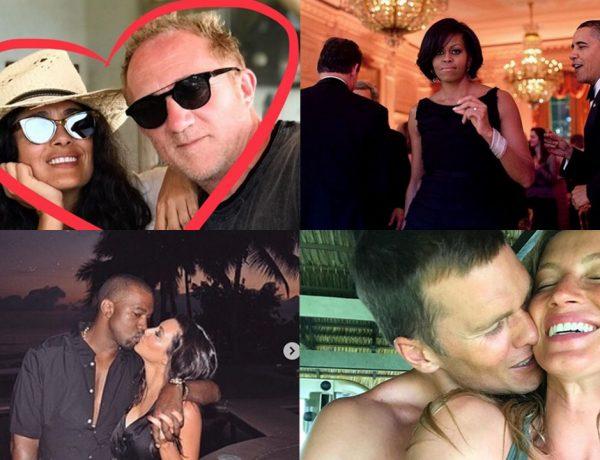 Los famosos compartieron románticas imágenes, mensajes profundo y llenaron las redes de amor