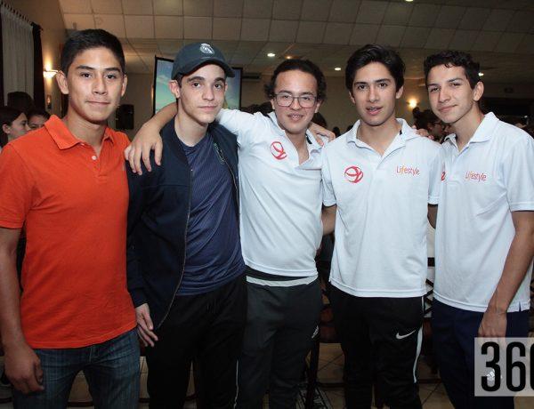 Jorge Alberto Reyes, Juan Carlos Servín, Andres Ortiz, Jaime Arguelles y Diego Arellano.