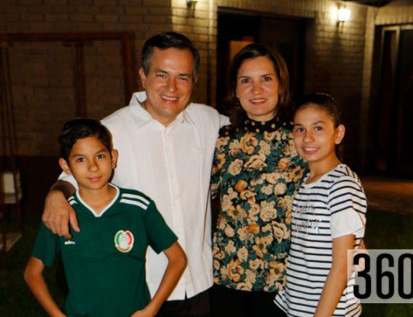 Luis Rico, Geo Morales, Luis Rico y Emilia Rico.