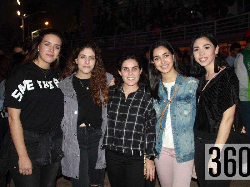 Susana Aguirre, María Fernanda Dávila, Alejandra López, Mariajosé Reyes y Diana Ortiz.
