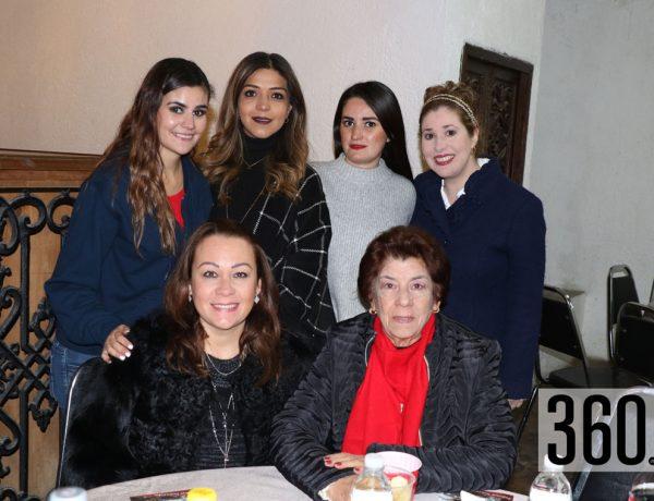 Graciela Ramírez, Ana Sofía Rodríguez, Ana Victoria Narro, Analí Fernández, Lupita Ramos y Mónica Cardona.