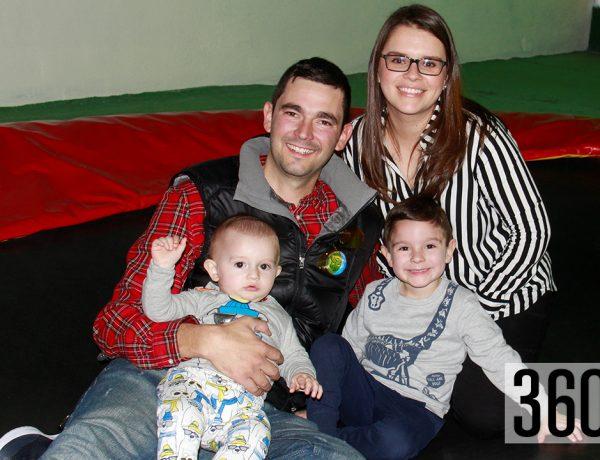 Mario celebró sus cuatro años con sus padres, Mario Francisco García Zertuche y Adriana Paz Rumayor, y su hermano Daniel.