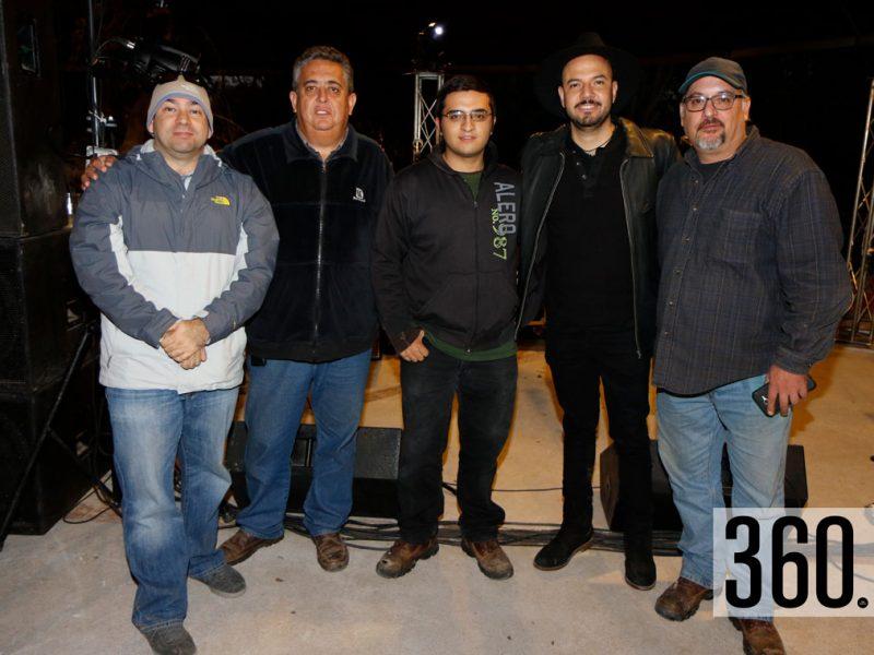 Luis Enríquez, Alberto Verástegui, Leonardo Chapa, José Leal y Pepe Chapa