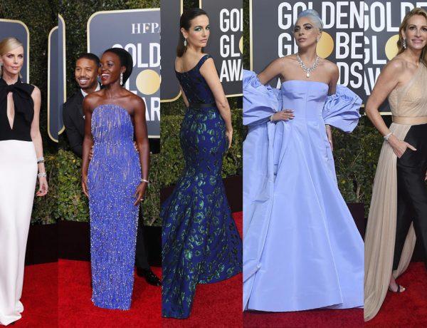 Las famosas se lucieron con sus vestidos y maquillaje en la alfombra roja de los Globos de oro 2019