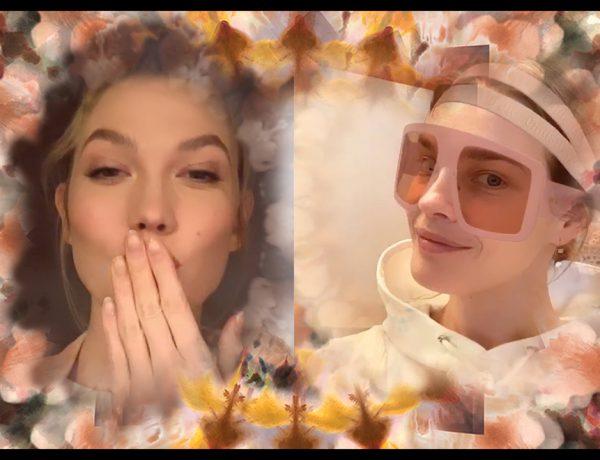 Dior causó furor en Instagram cuando sacó un filtro inspirado en su colección primavera-verano 2019