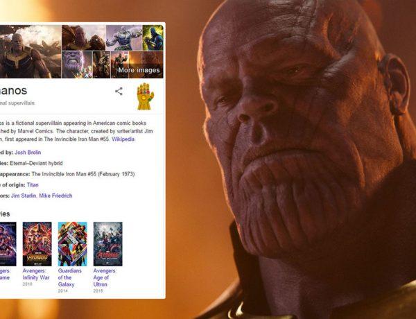 """Google decidió crear un pequeño easter egg para los fanáticos de Marvel que busca la palabra """"Thanos"""""""
