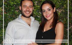 La pareja disfrutó de una despedida organizada por sus amigos