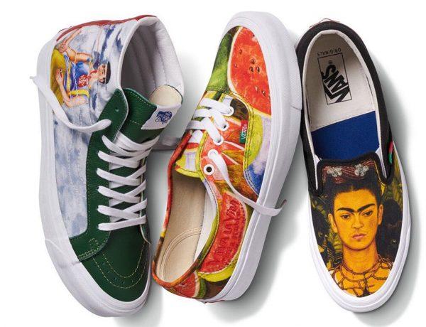 La colección Vans x Frida Kahlo contará con tres modelos de tenis, estampados con las obras más famosas de la pintora.