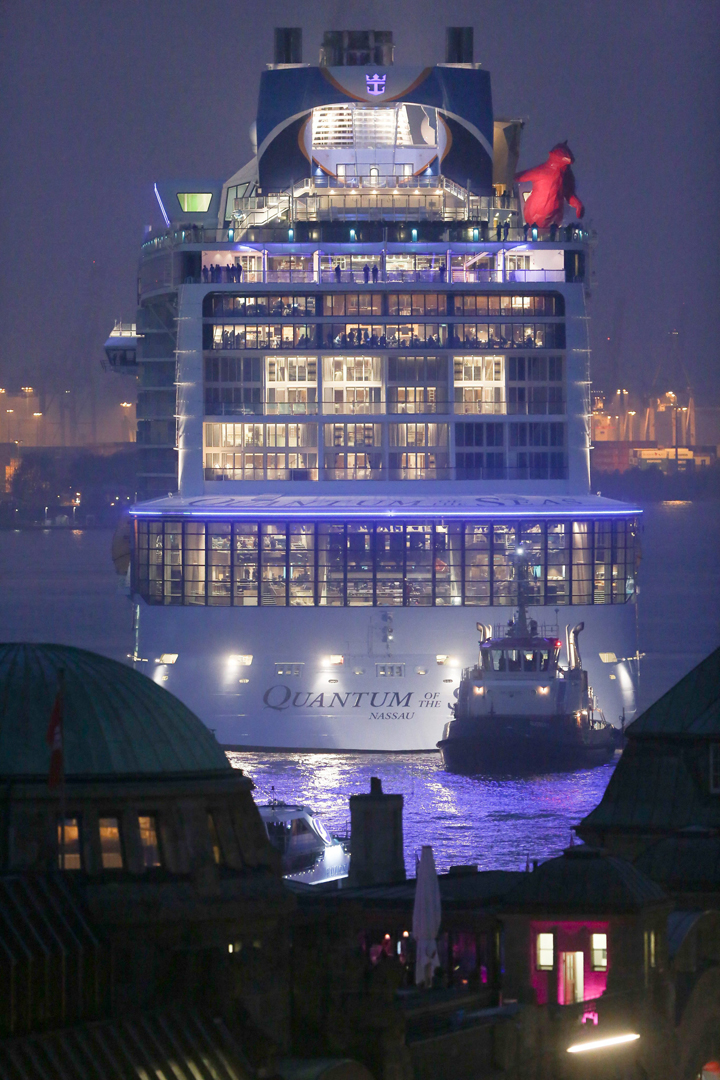 El Quantum of the Seas visto desde popa.