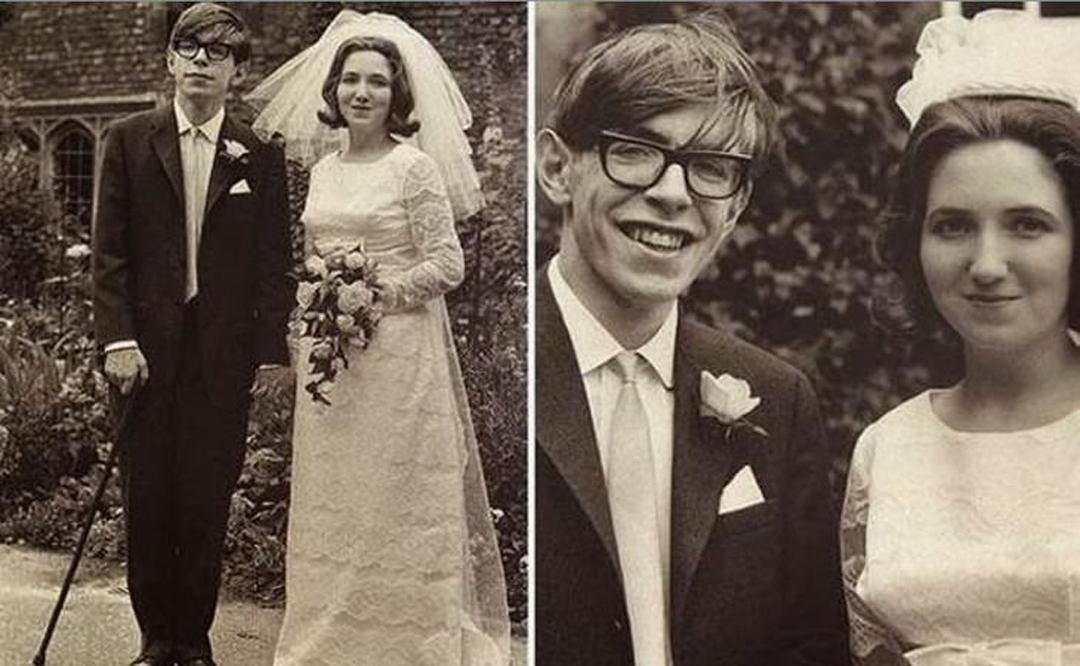 Steven Hawking con su novia, Jane Wilde