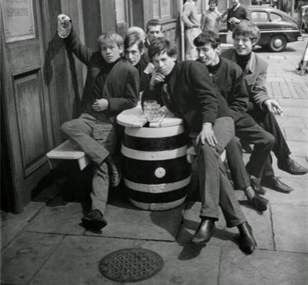 Los Rolling Stones, hacia 1963.