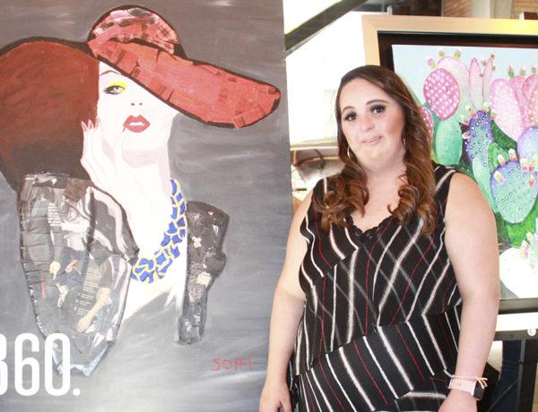 Sofía Montemayor realizó su primera exposición.