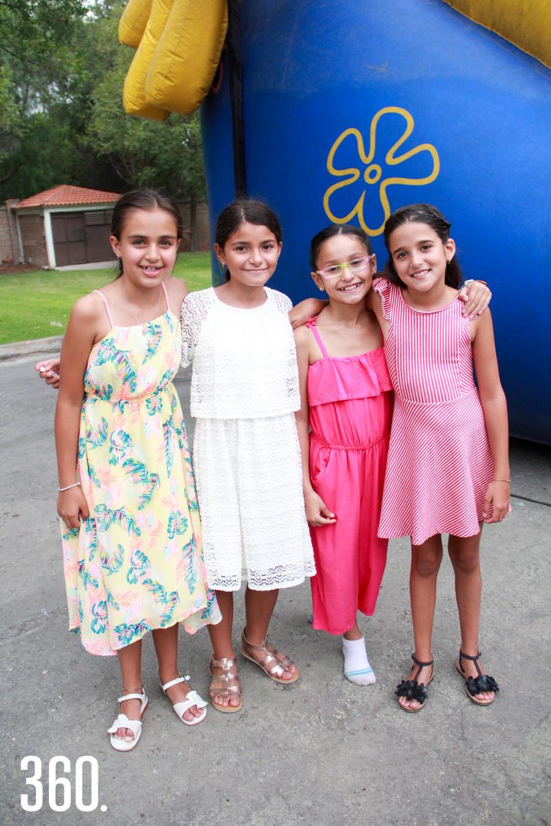 Emilia González, Tamara Garza, Valeria Fuentes y Paloma Valdés.