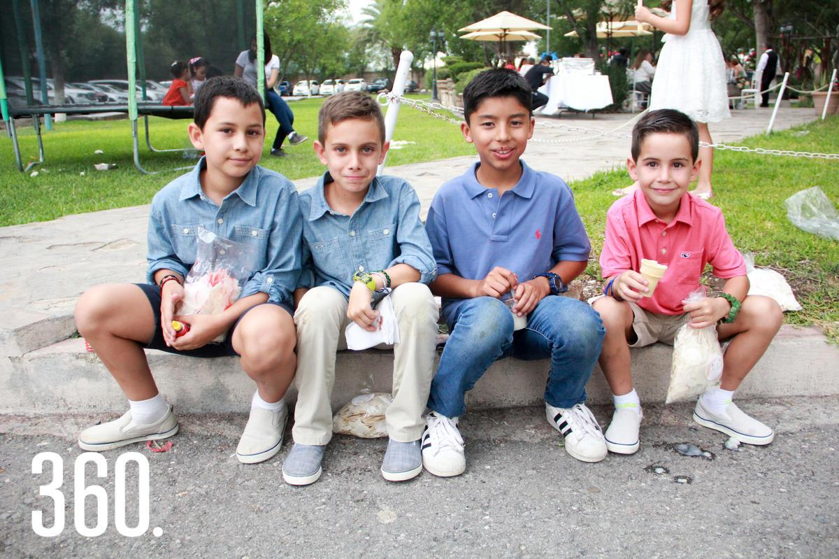 Emiliano Peña, Kerim Valdés, Christian Zepeda y Andrés Arizpe.