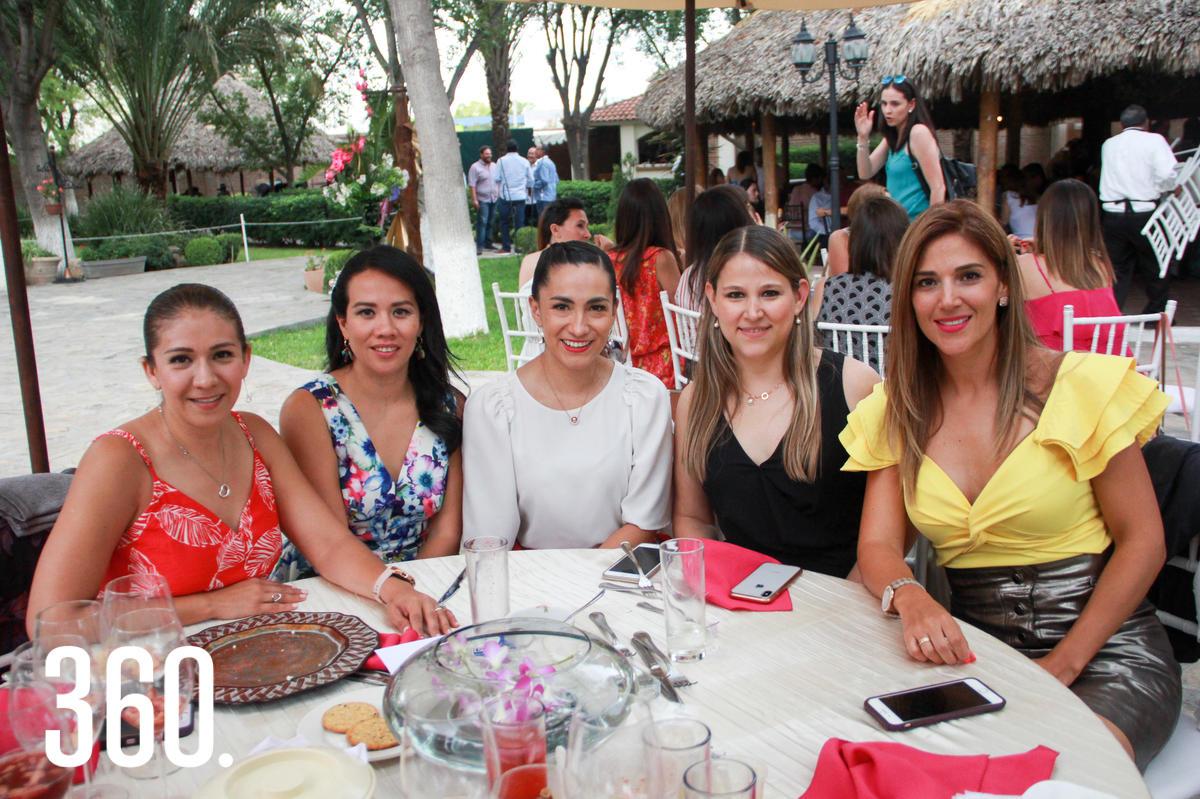 Susana Castillo, Gris Hinojosa, Lorena de Rodríguez, María Julia González y Nelda Rodríguez.