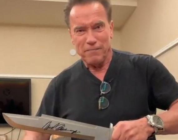 Arnold cuchillo Rambo Stallone