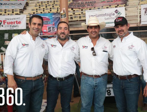 Gerardo Villarreal, Jorge González, Efraín Díaz y Alejandro González