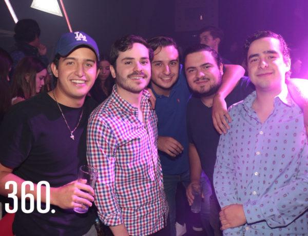 Rodrigo Valdés, Diego del Bosque, Diego Aguirre, Rodrigo Cesar y Gerardo Aguirre.