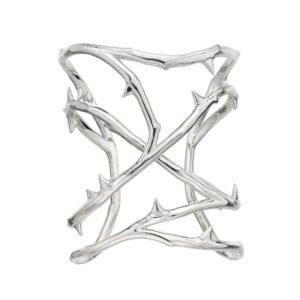 Silver Rose Thorn Cuff $ 29,042