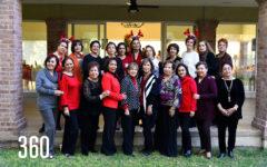 Las integrantes del Club de Jardinería Rosal.