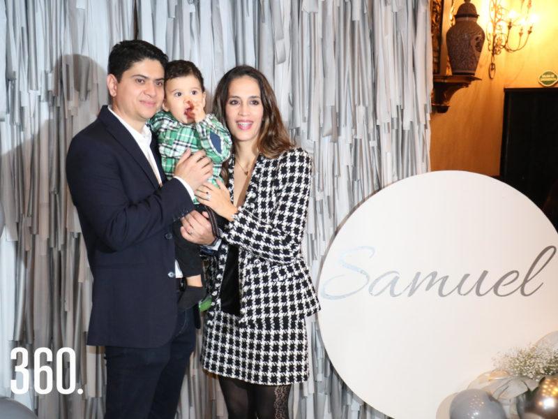 Jorge Pimentel, Samuel Pimentel Sánchez y Rosario Sánchez.
