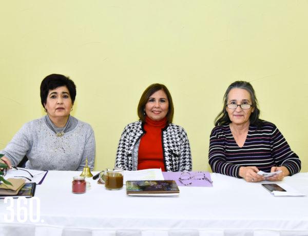 Silvia Roca, Hilda Sepúlveda de Villarreal y Beatriz Verduzco.