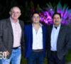 Eduardo Villarreal Montesinos con su papá Horacio Humberto Villarreal y su suegro Ariel Coss Valdés.