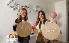 Nadia Sánchez de Serrano y Fernanda Villalobos de Huereca festejaron el próximo nacimiento de su bebé en el Baby Sowher ¡Sorpresa¡.