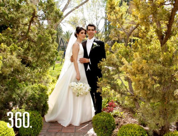 Arturo Cuéllar Ortiz y Daniela Ramos Guerra celebraron su matrimonio en Villa Ferré.