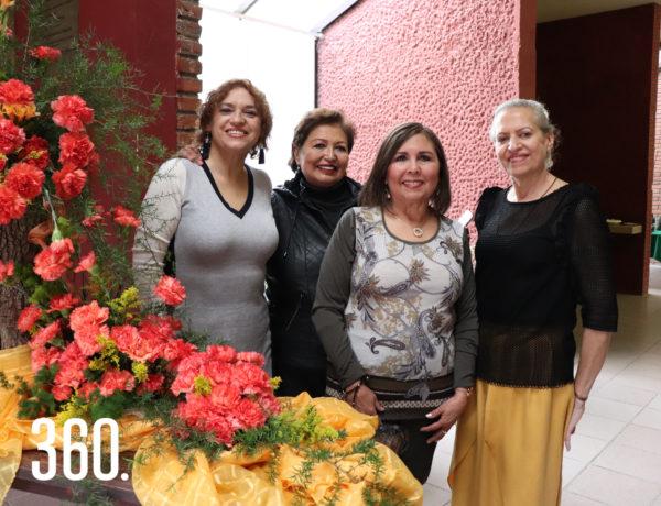 Eugenia Ramírez, Martha de Latapi, Hilda Sepúlveda y Nena de Colunga.