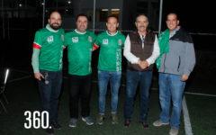 """Alejandro Silva, Rodrigo Díaz, Luis Hernández """"El Matador"""", Héctor Rodríguez y Alejandro Gómez."""