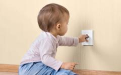 Niño seguros en casa
