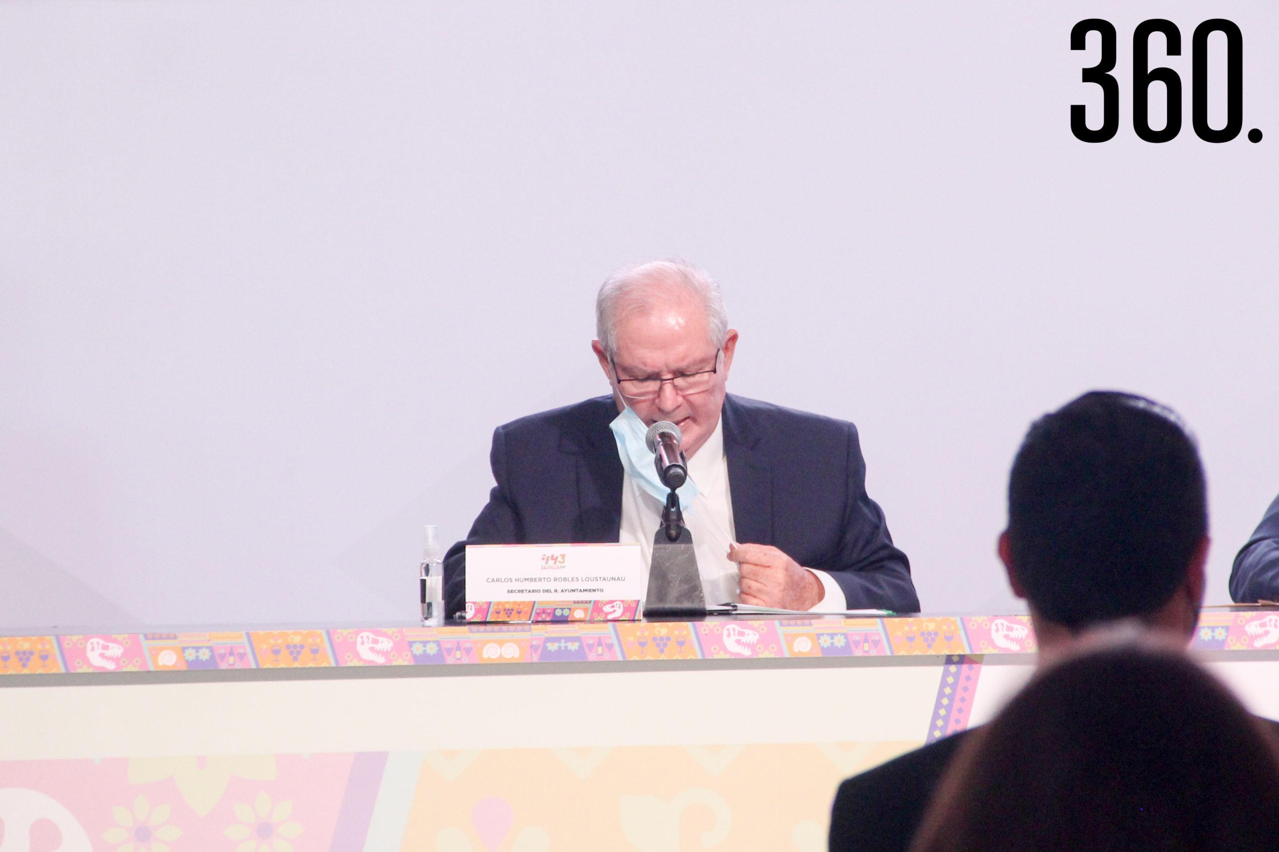 Carlos Humberto Robles, Secretario del R. Ayuntamiento.