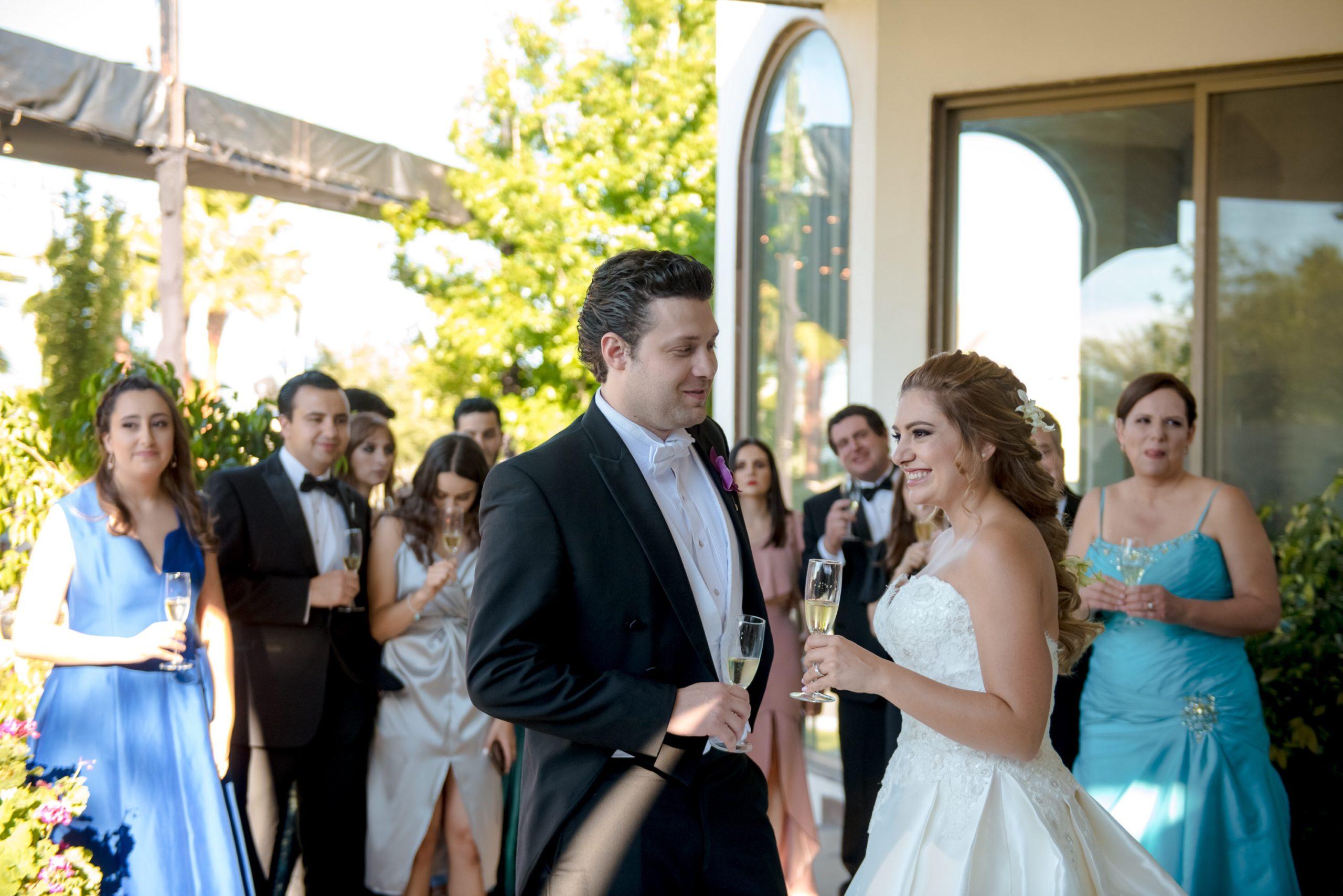 La novia y los invitados