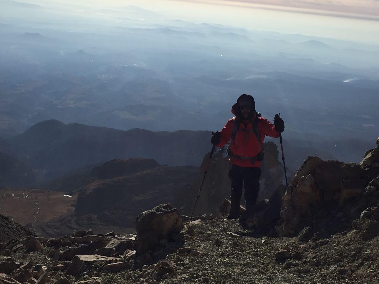 Rumbo a la cumbre del volcán Iztaccíhuatl, en 2018.