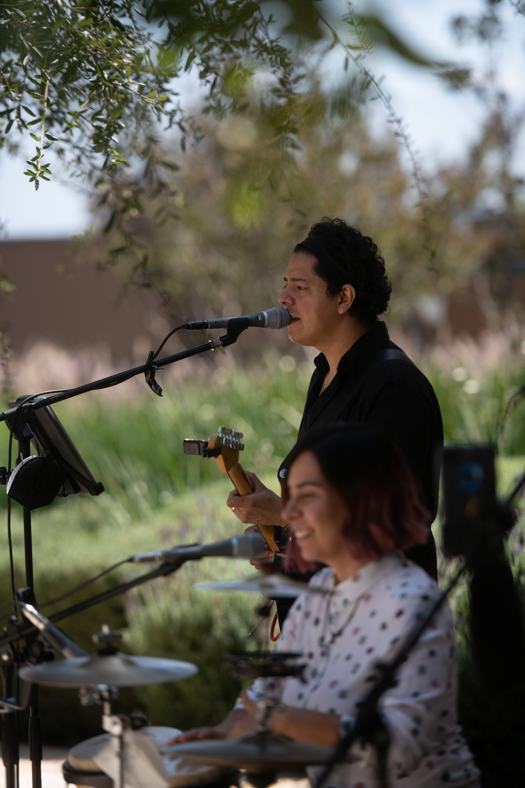 Los invitados disfrutaron de un grupo musical.