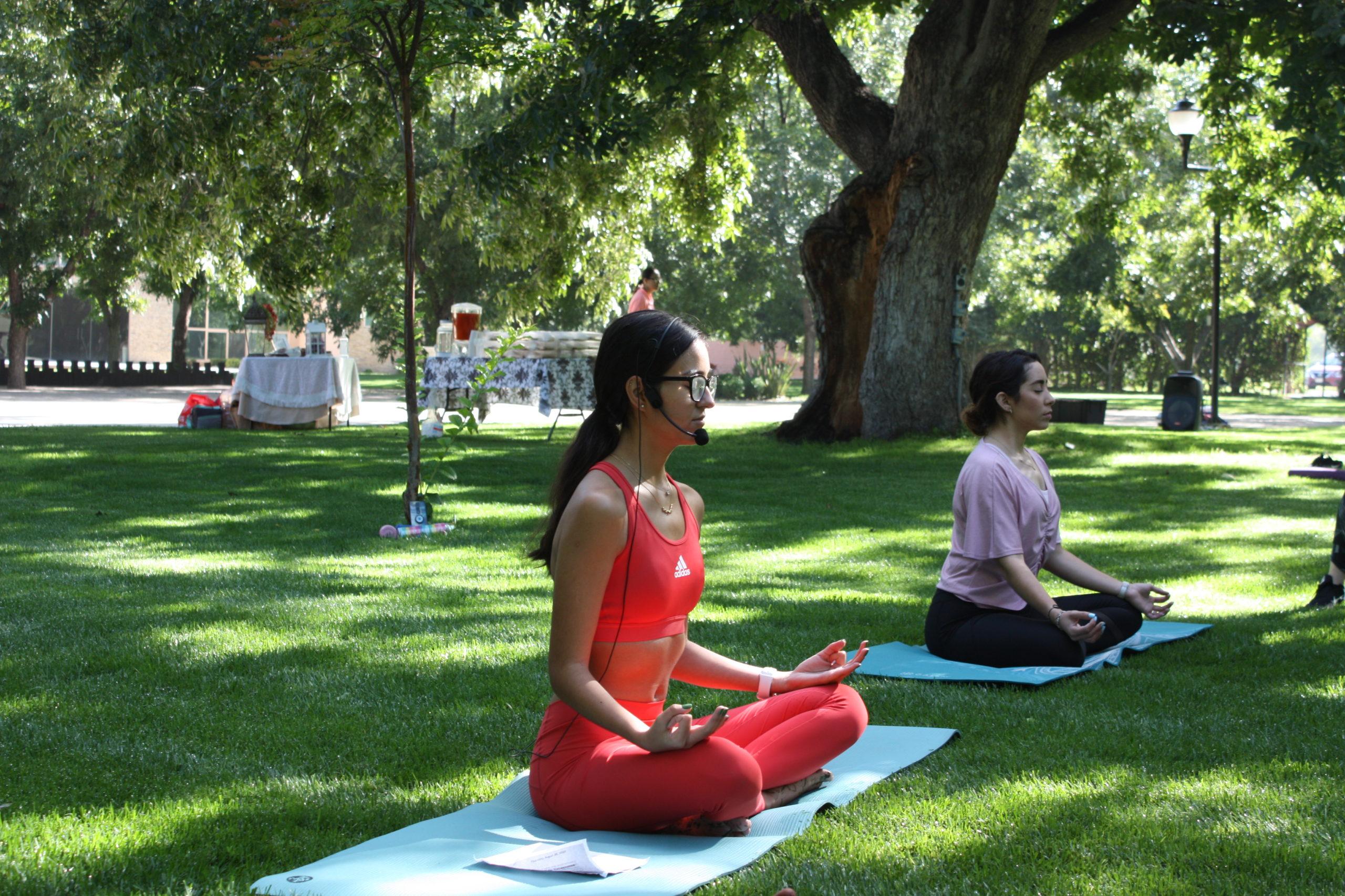 Andrea Cárdenas empezó a practicar yoga en el 2017.