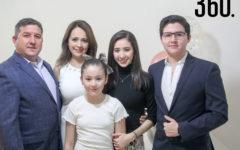 Ana Sofía con su familia.