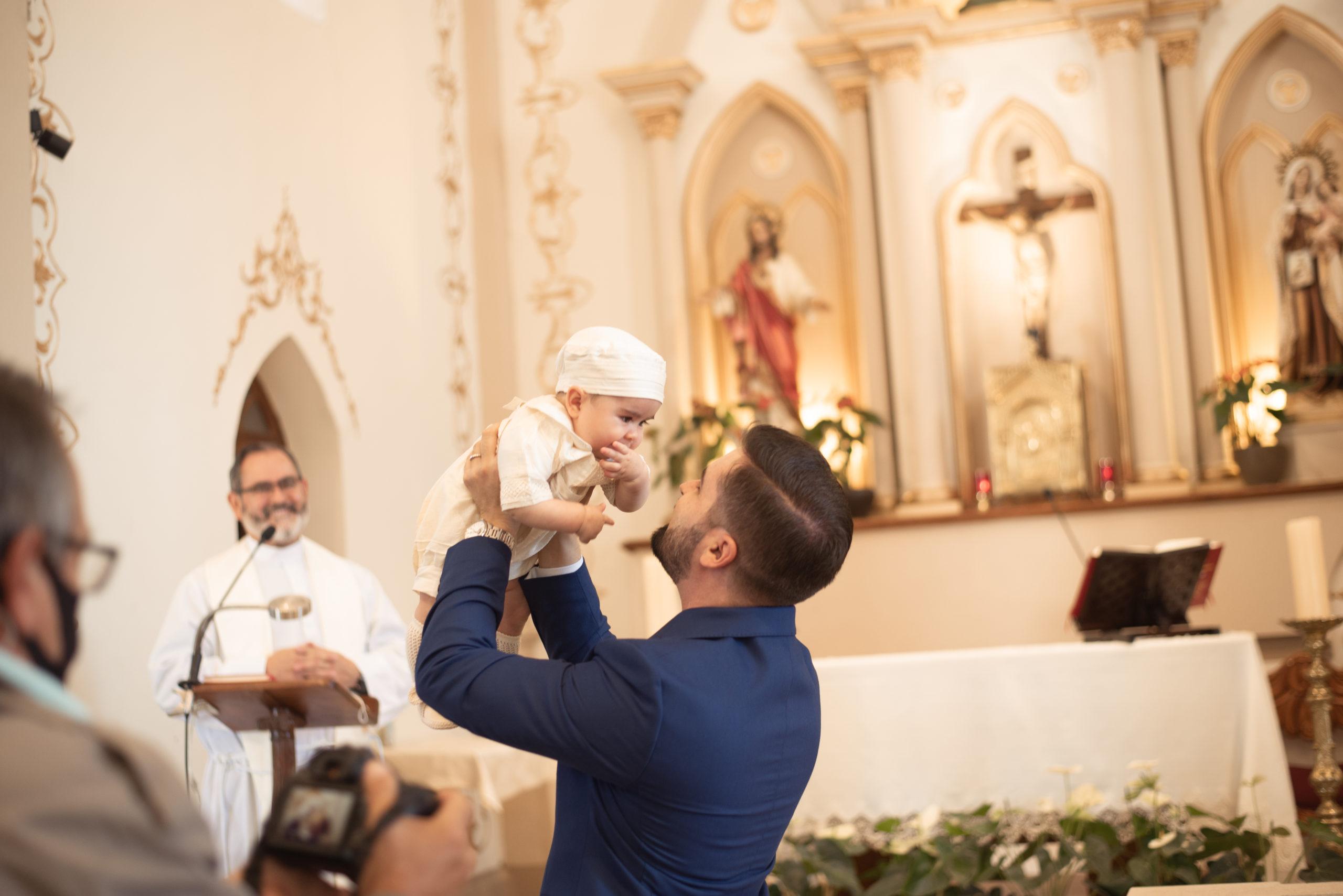 Jorge con su papá.