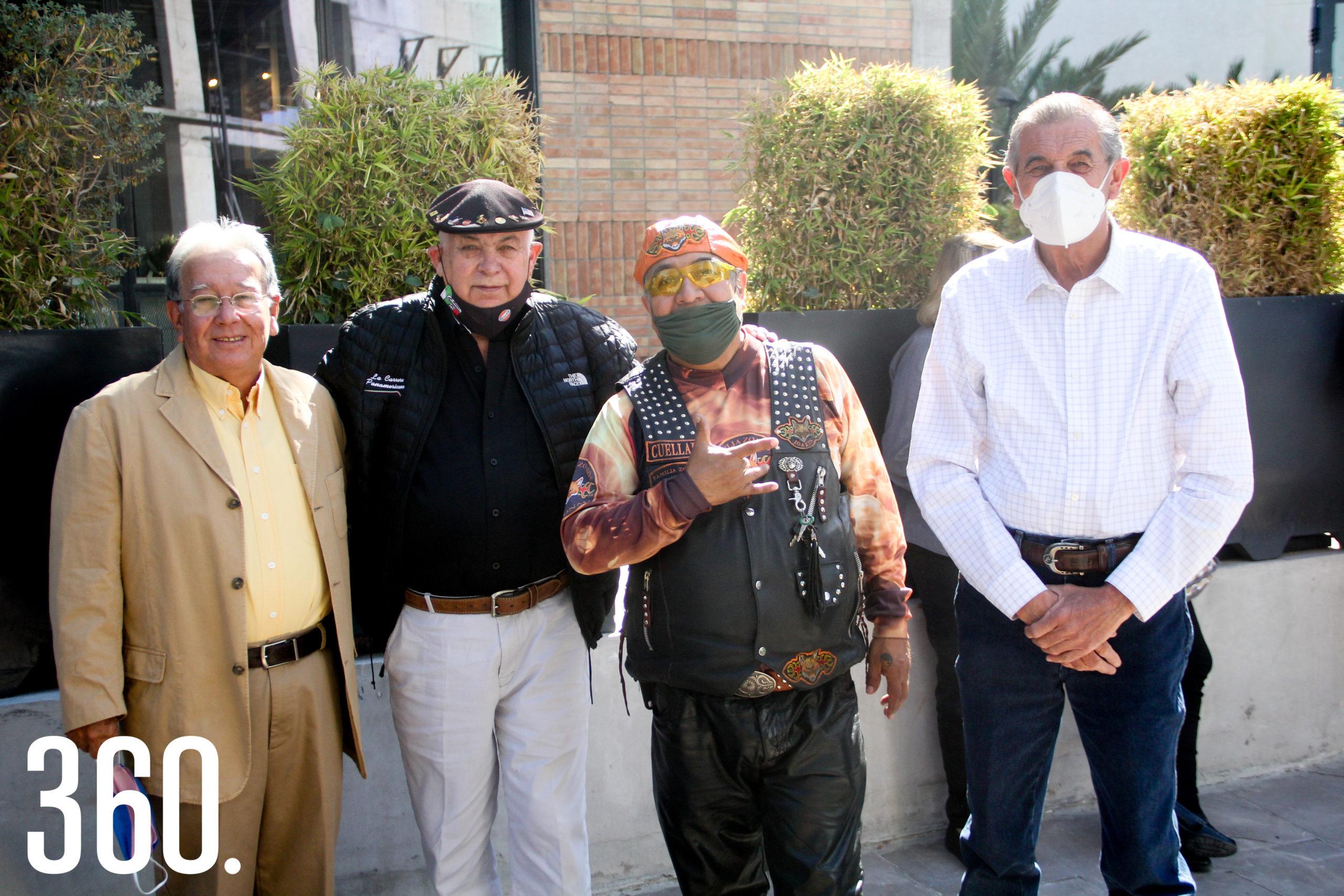 Romeo Campos, Pedro Quintanilla, Gustavo Cuéllar y Jesús Felipe de la Garza.