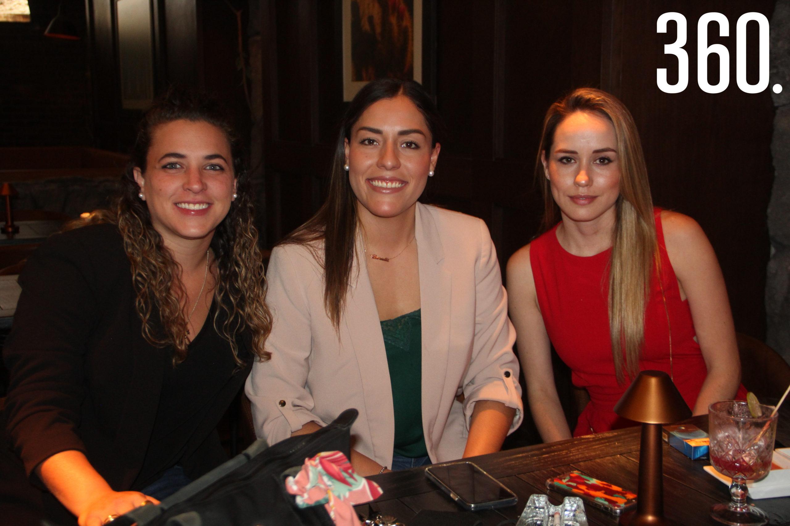 Melita Lastra, Daniela Suaste y Marijose Arroyo.
