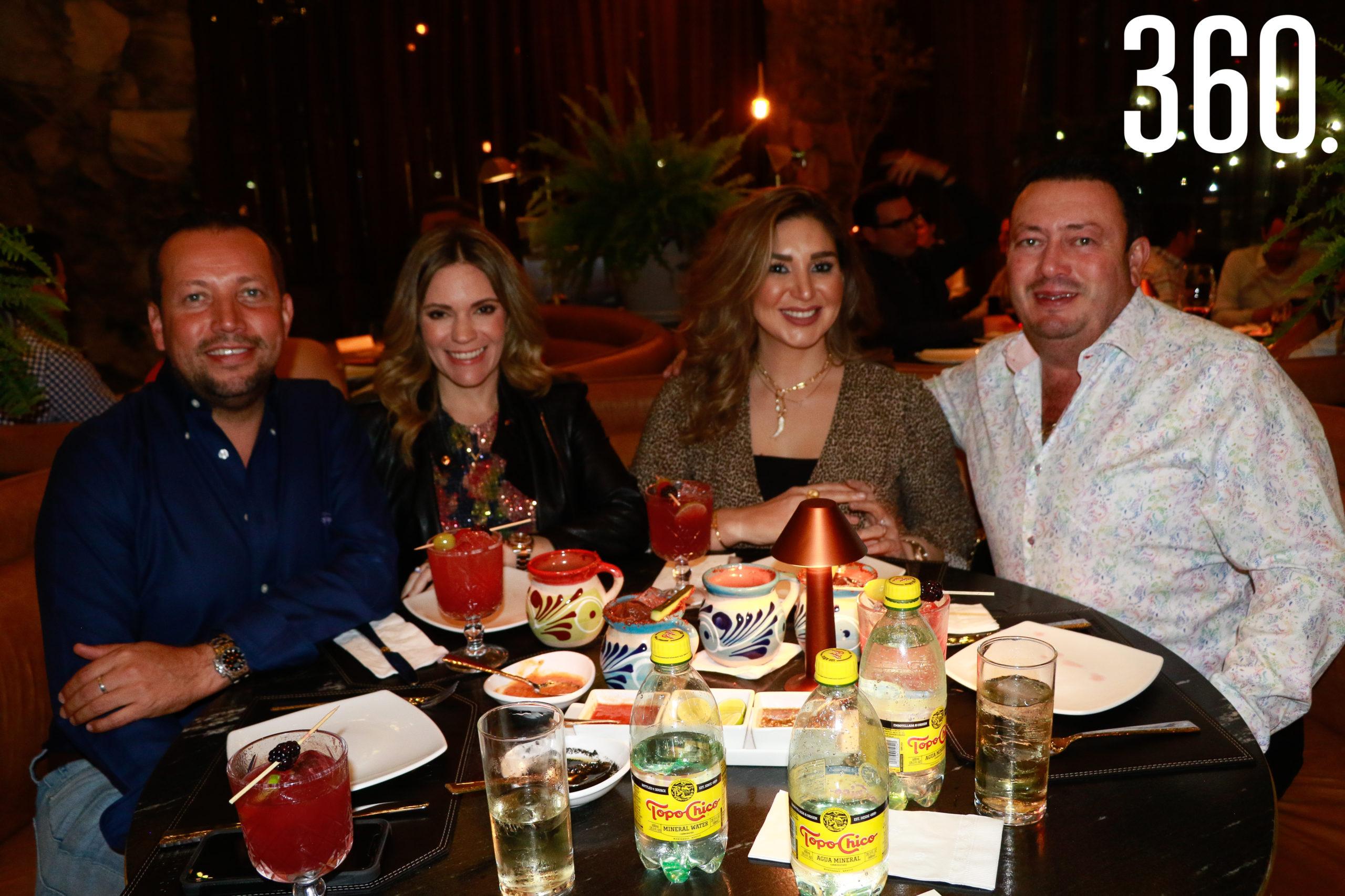 Vladimir Narro, Billy de León, Ana Melissa y Salomón Flores.