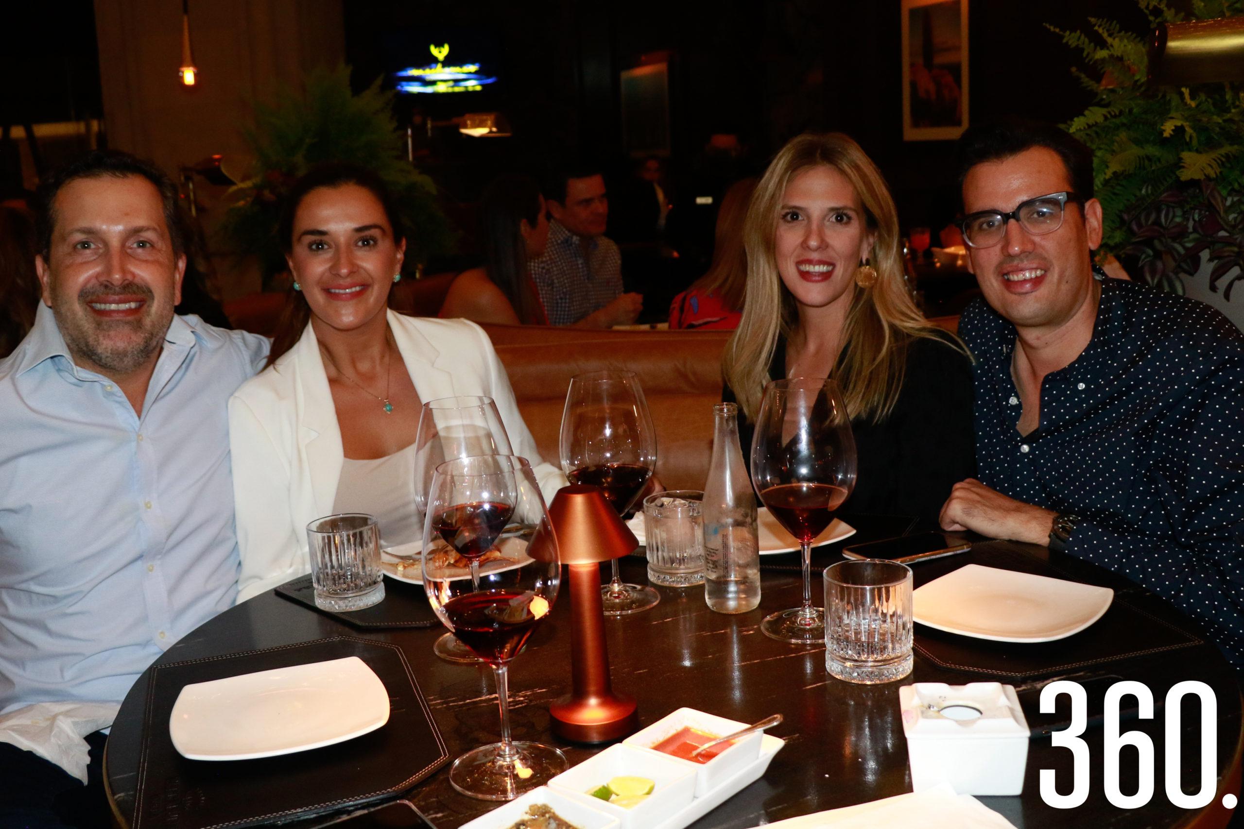 Armando Castilla, Ana Lucía Paz, Anne Sañudo y Juan Carlos Torres.
