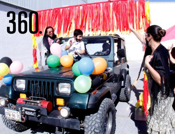 """Los alumnos de Preescolar y Primaria del Harmony School participaron en la Caravana """"It´s a Small World"""", para celebrar el 75 Aniversario de la Organización de las Naciones Unidas."""