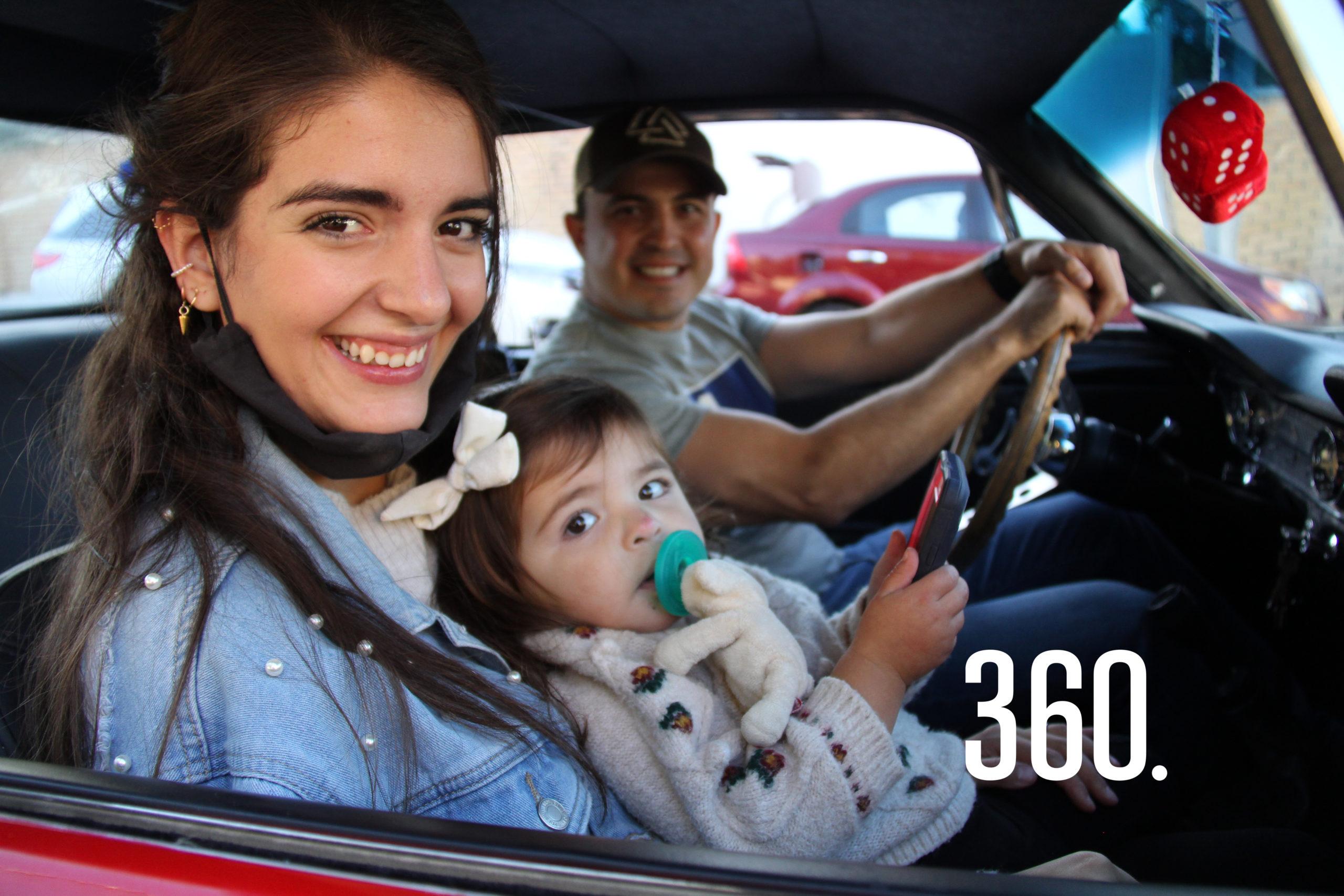 Erandy Pereznegrón, Marié y Fabián Núñez.